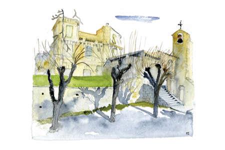 Église et château d'Assas