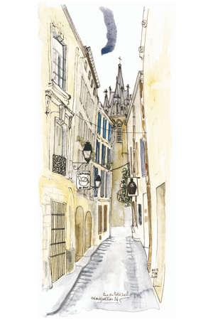 Montpellier, rue du Petit Scel