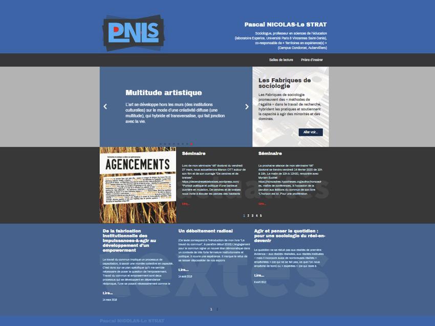 Site de Pascal NICOLAS-Le STRAT