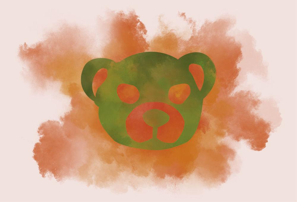 Poussières d'Ours peinture numérique Ours Kkaoss